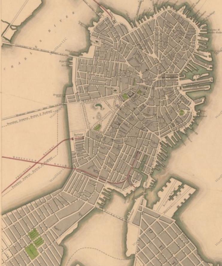 back bay boston map Back Bay A Historical Narrative Through Map Observations back bay boston map