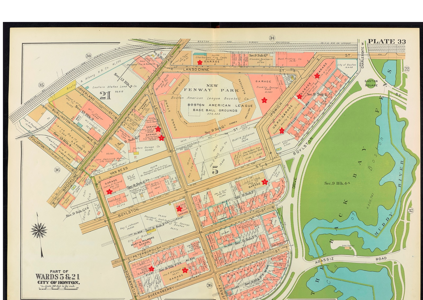 Fenway Once And Future City - Map of boston vicinity