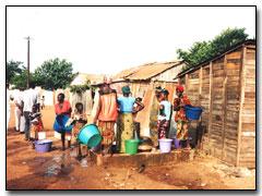 Photo of Zambian Women fetching water