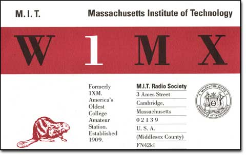 W1MX QSL Card