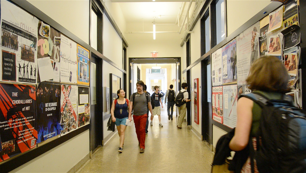 Many departments, classrooms, and labs radiate from the Infinite Corridor.