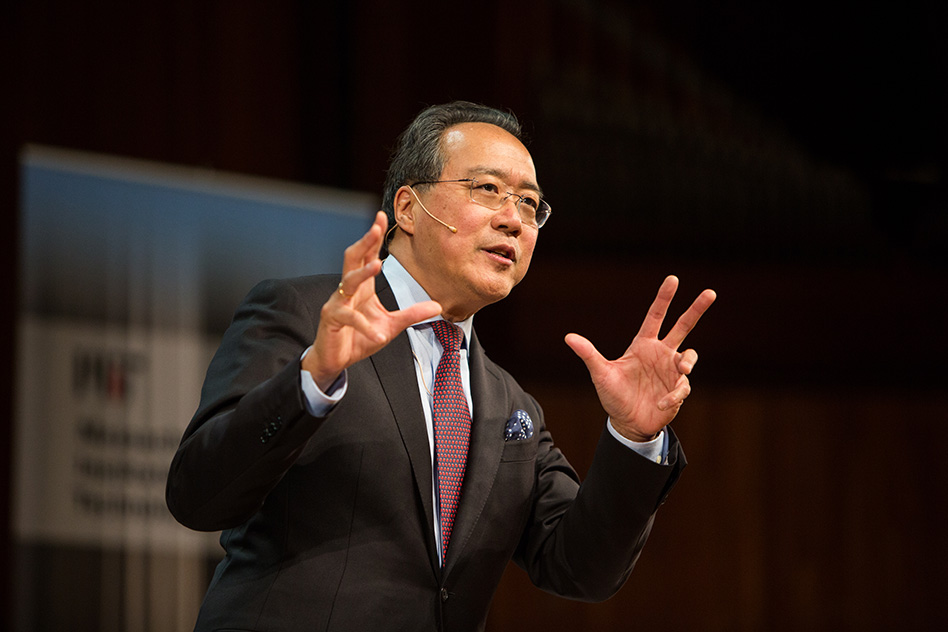 "Yo-Yo Ma calls for ""culture in action"" to build a better world"