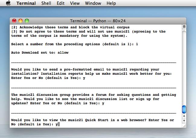 Installing music21 on Mac — music21 Documentation
