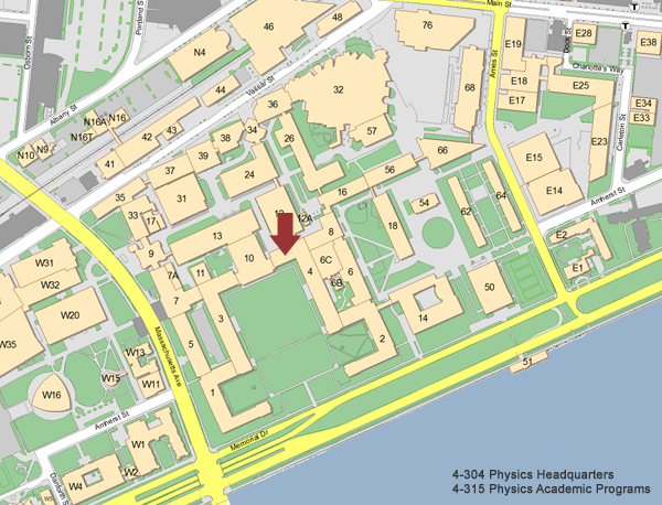 massachusetts institute of technology campus map Mit Department Of Physics massachusetts institute of technology campus map